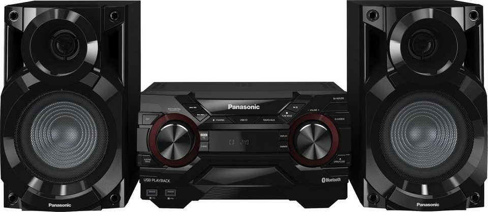 Panasonic SC-AKX200E-K Kompaktanlage, Bluetooth, 2x USB in schwarz