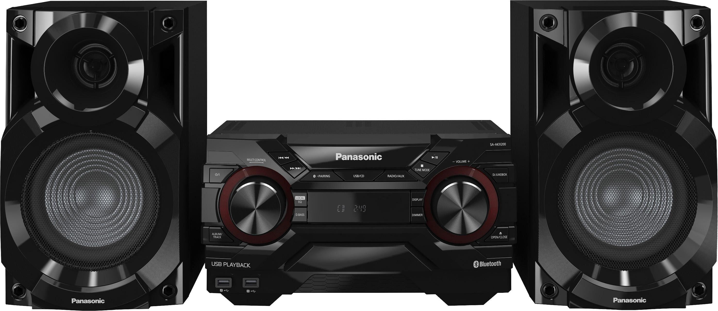 Panasonic SC-AKX200E-K Kompaktanlage, Bluetooth, 2x USB