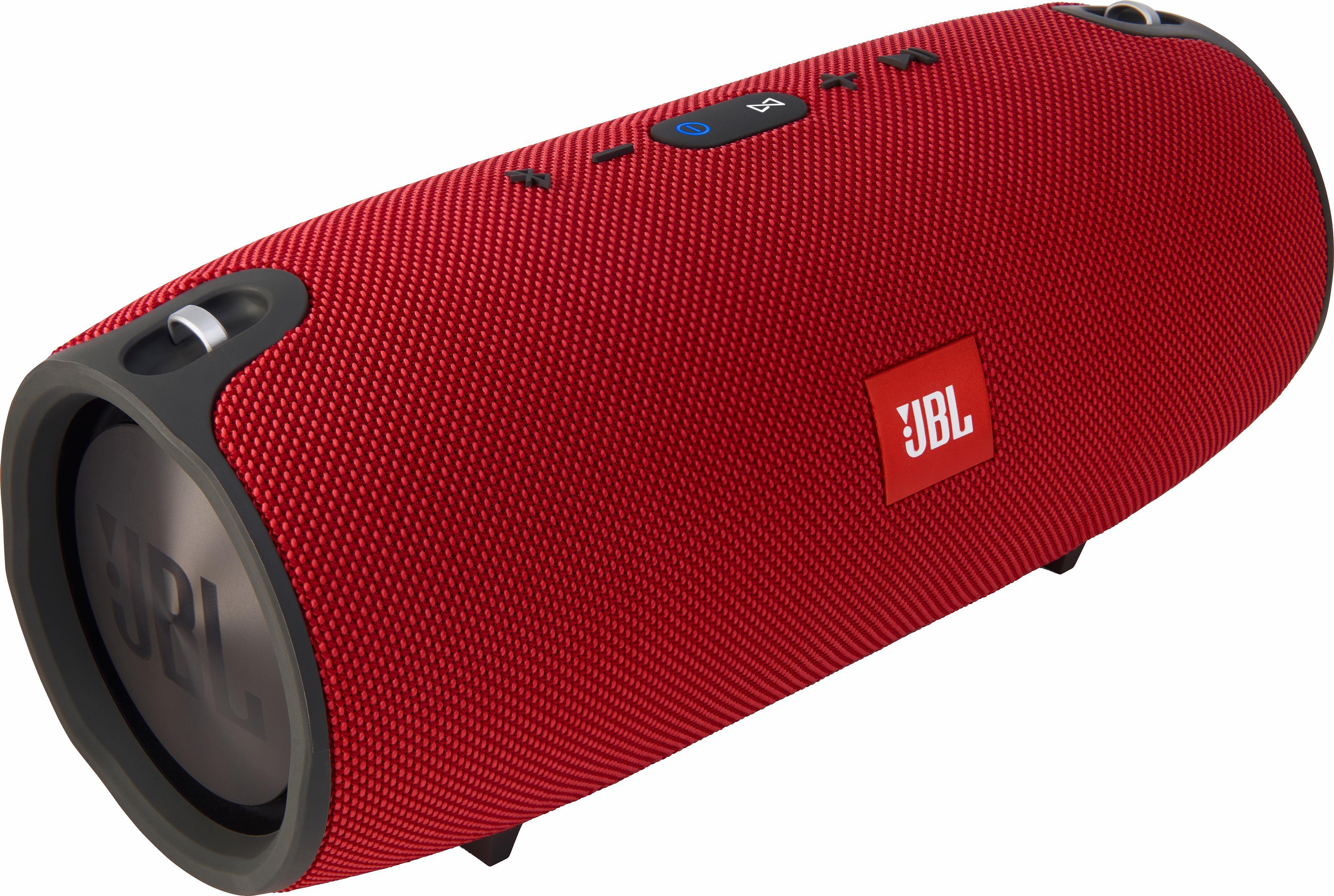 JBL Xtreme Stereo Portable-Lautsprecher (Bluetooth, Freisprechfunktion, 40 W, Geräusch- und Echounterdrückungsfunktion, Freisprechfunktion, Spritzwasserfest, JBL Connect, JBL Bass-Strahler)