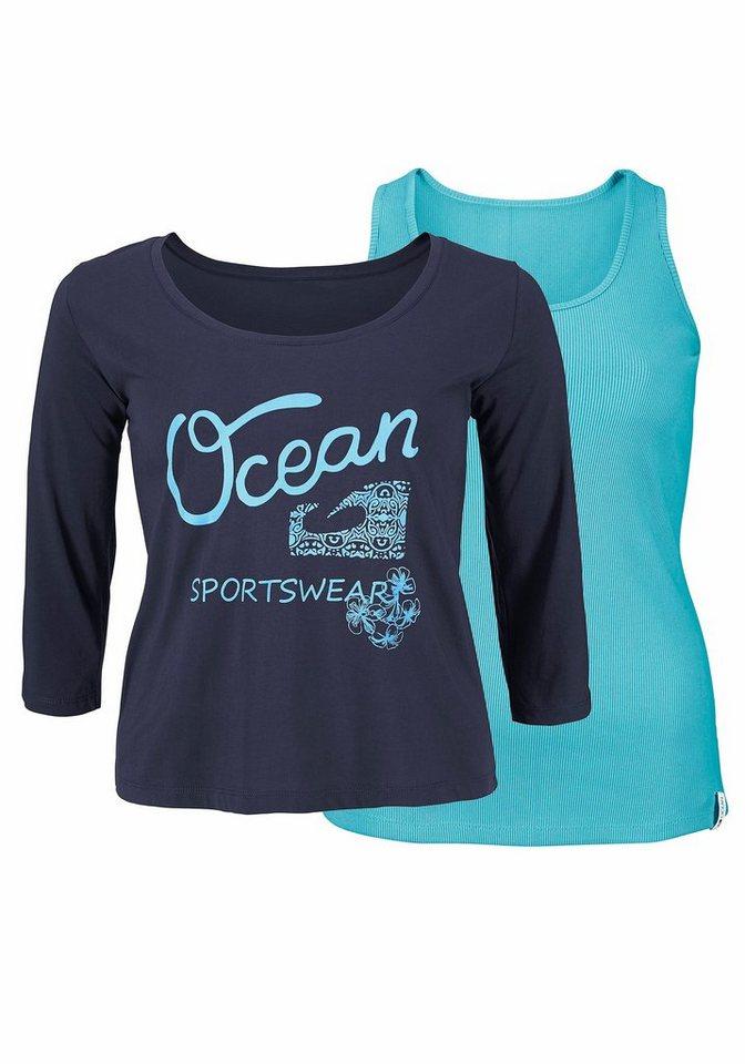 Ocean Sportswear 2-in-1-Shirt Set: Shirt+Top (Set, 2 tlg., mit Top) in blau