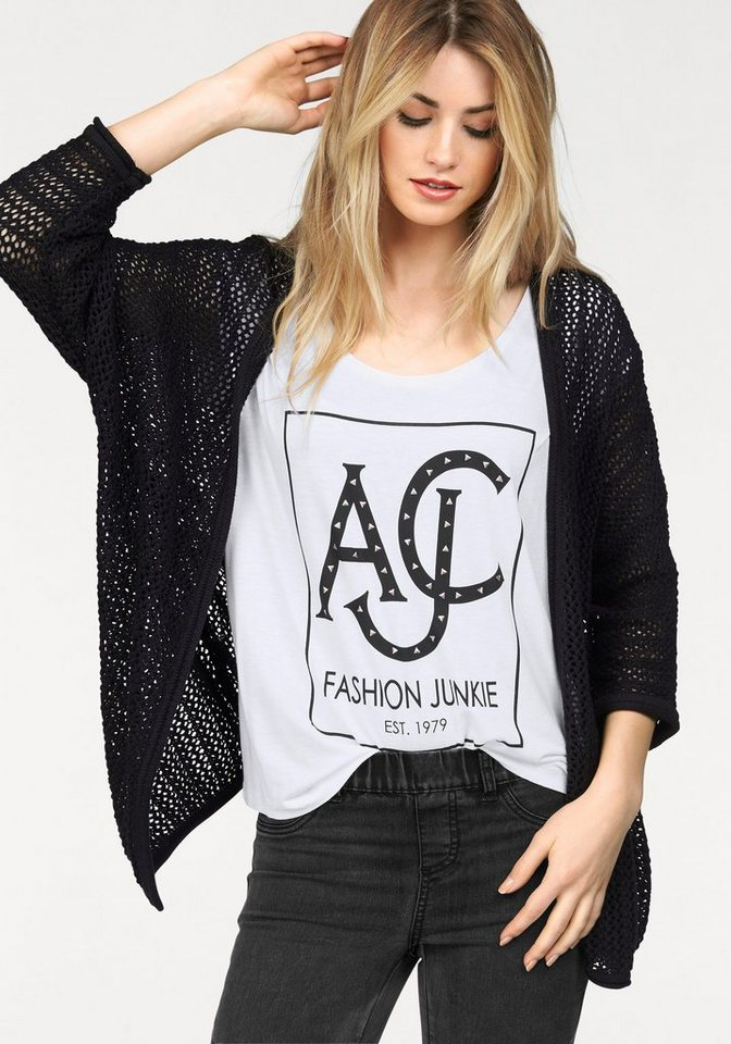 AJC Cardigan in Grobstrick in schwarz