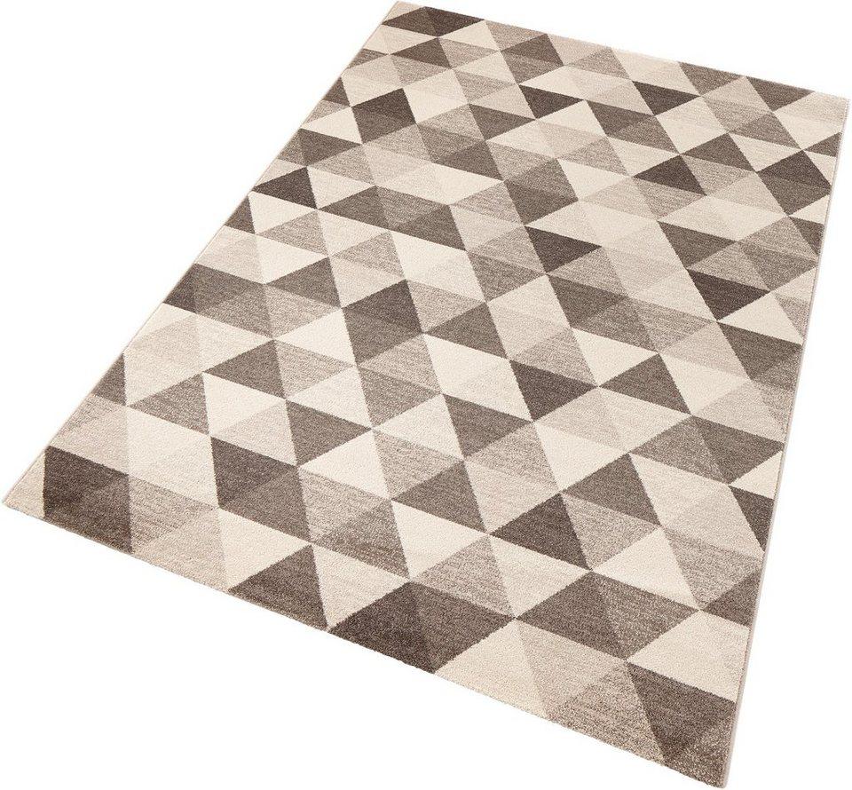Teppich, Schöngeist & Petersen, »Prisma«, gewebt in braun creme
