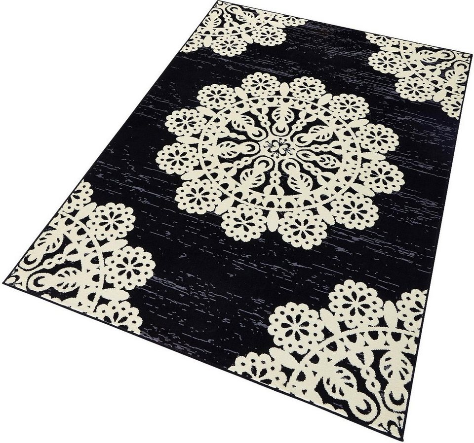 Teppich »Lace«, Hanse Home, rechteckig, Höhe 9 mm in schwarz-weiß