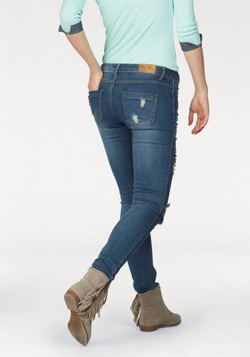 Ajc Tube Jeans With Destroyed-effects