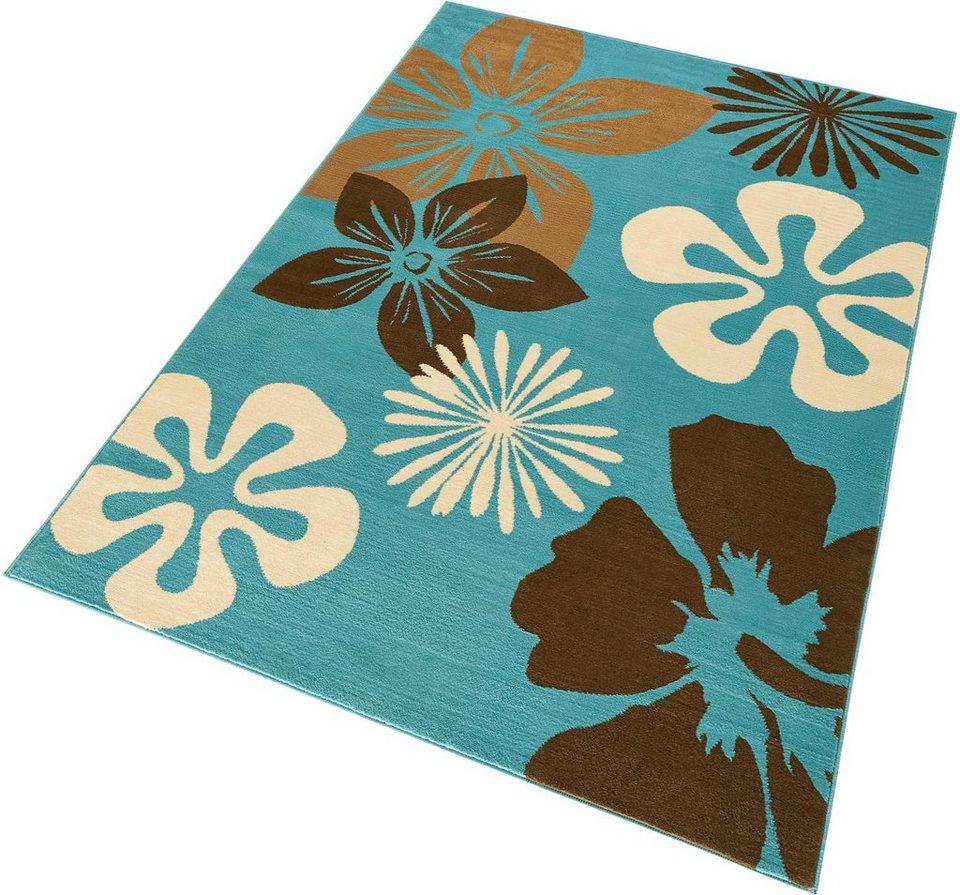 Teppich »Flora«, Hanse Home, rechteckig, Höhe 9 mm in blau
