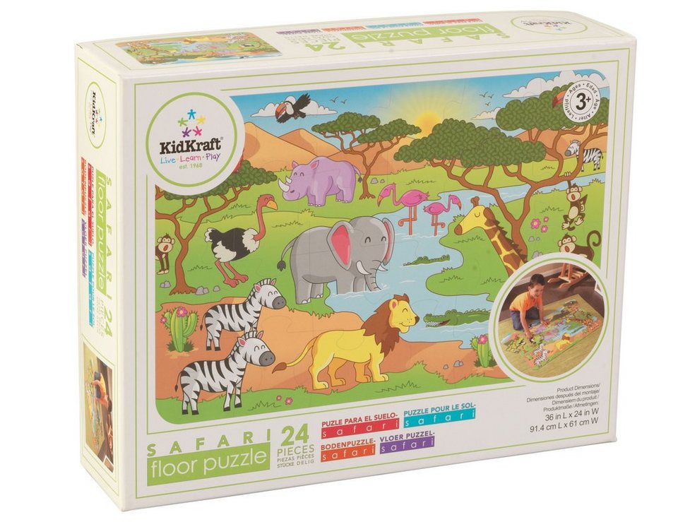 KidKraft® Bodenpuzzle 24 Teile, »Safari«