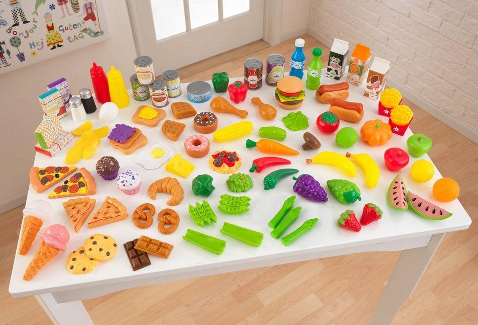 KidKraft® Spiellebensmittel-Set aus Kunststoff, 115-tlg.