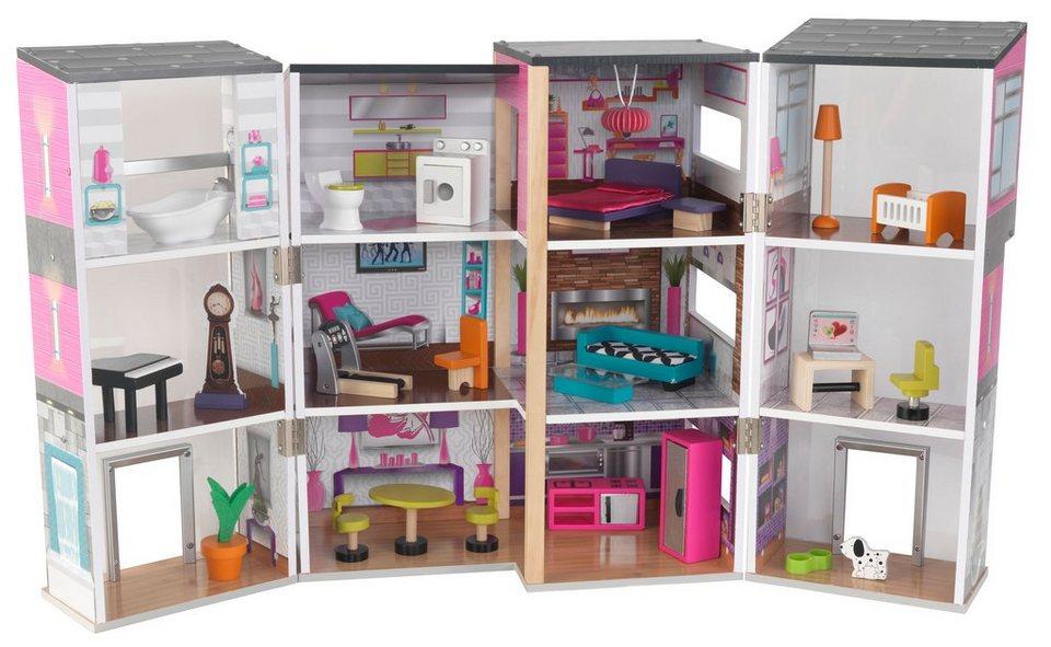 kidkraft puppenhaus inkl 24 tlg m belset modernes. Black Bedroom Furniture Sets. Home Design Ideas