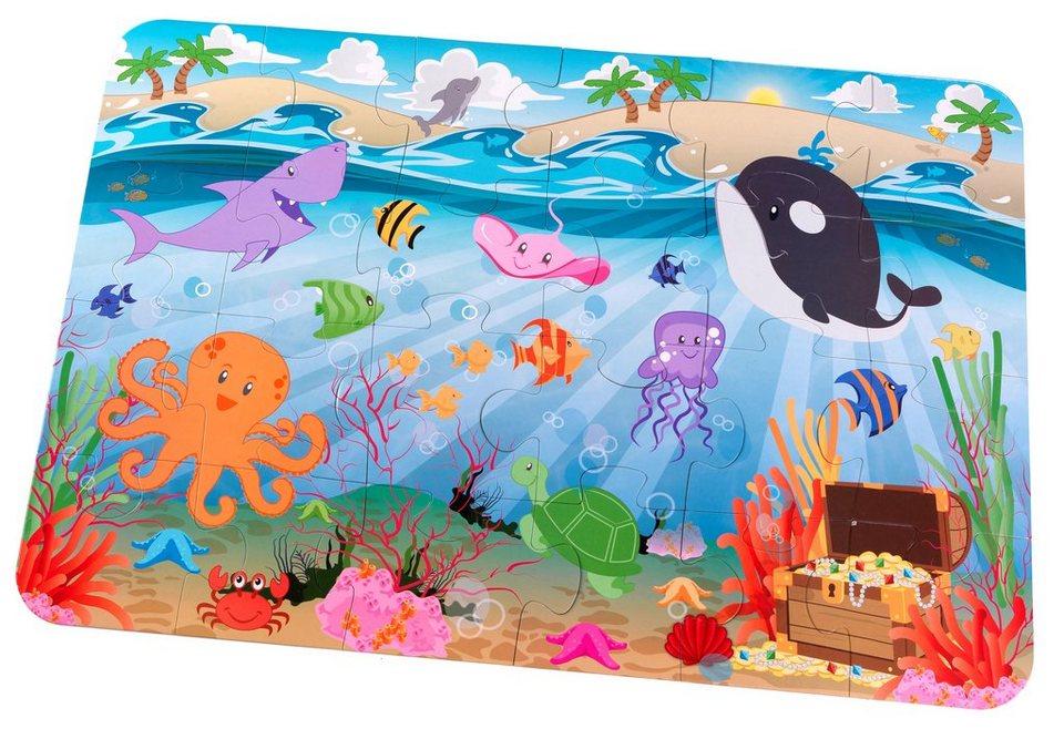 KidKraft® Bodenpuzzle 24 Teile, »Im Meer«