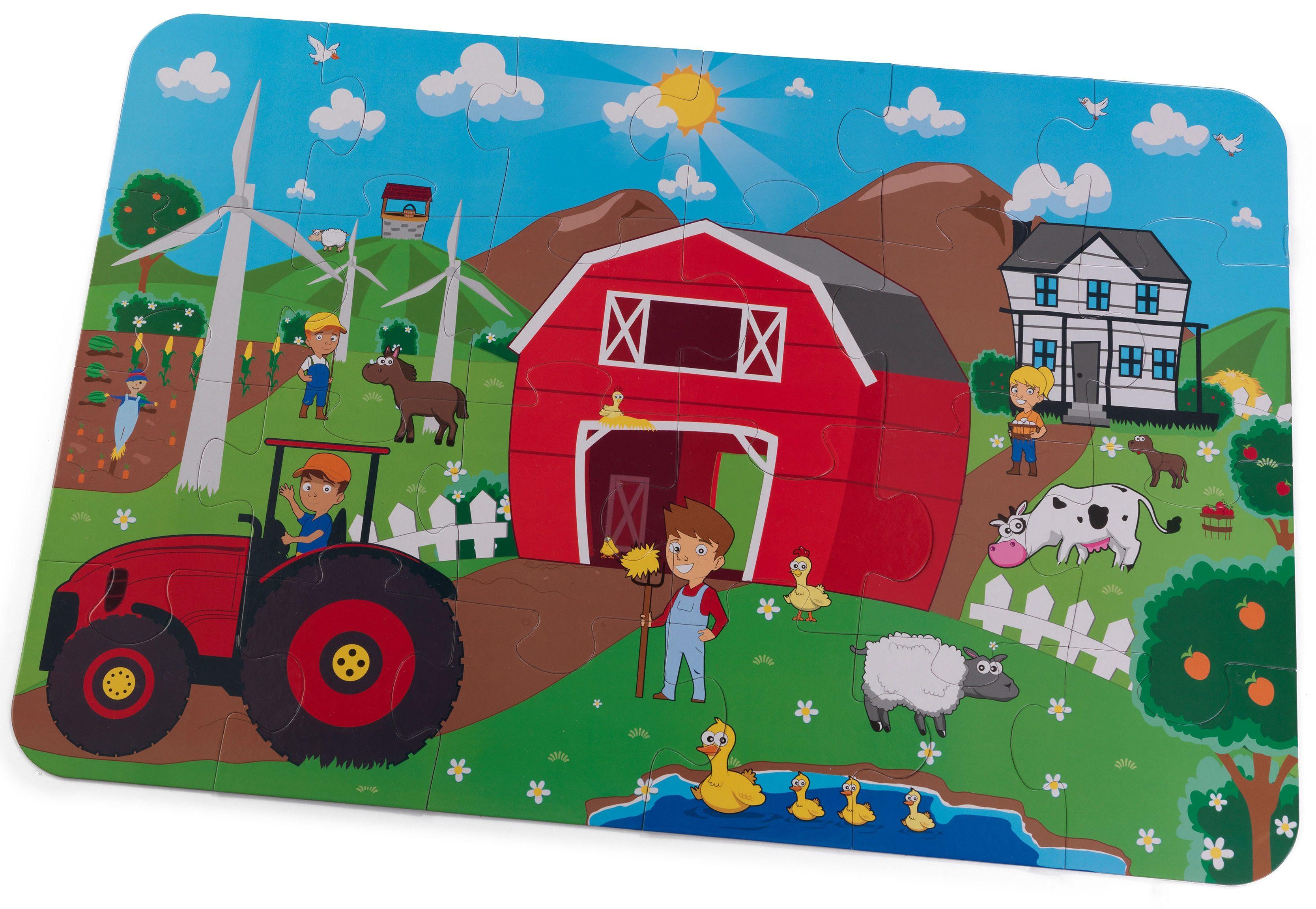 KidKraft® Bodenpuzzle 24 Teile, »Bauernhof«