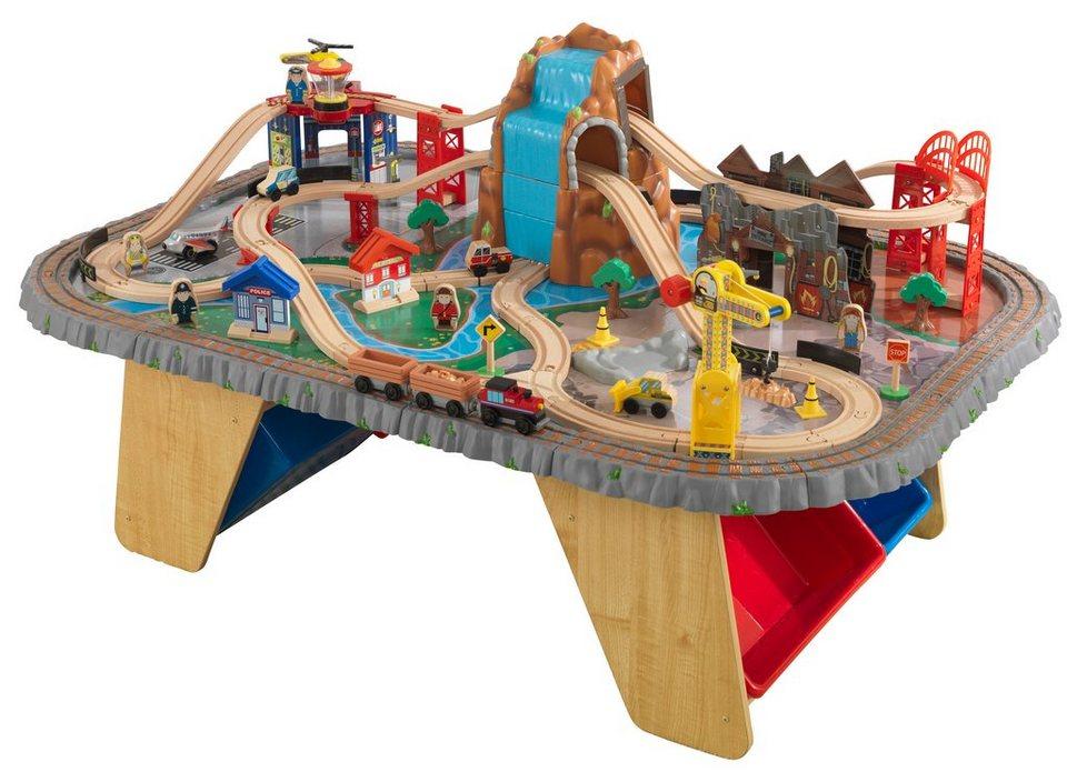 Spieltisch Eisenbahn kidkraft eisenbahn spieltisch wasserfall eisenbahntisch
