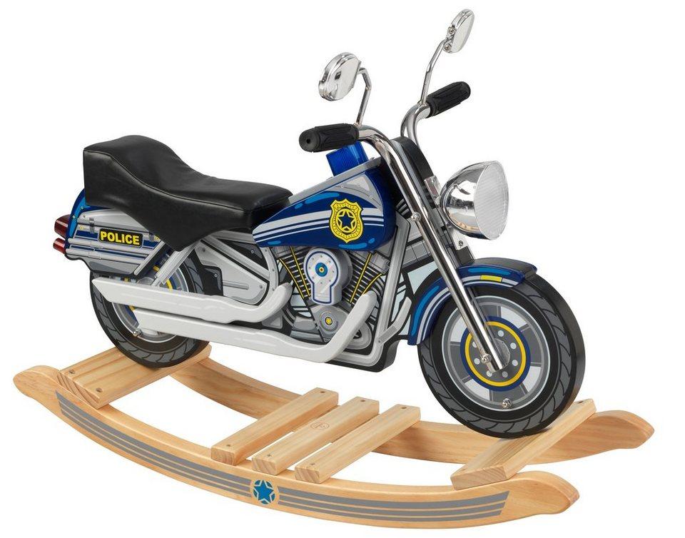 KidKraft® Schaukelmotorrad mit Sound, »Polizei« in bunt