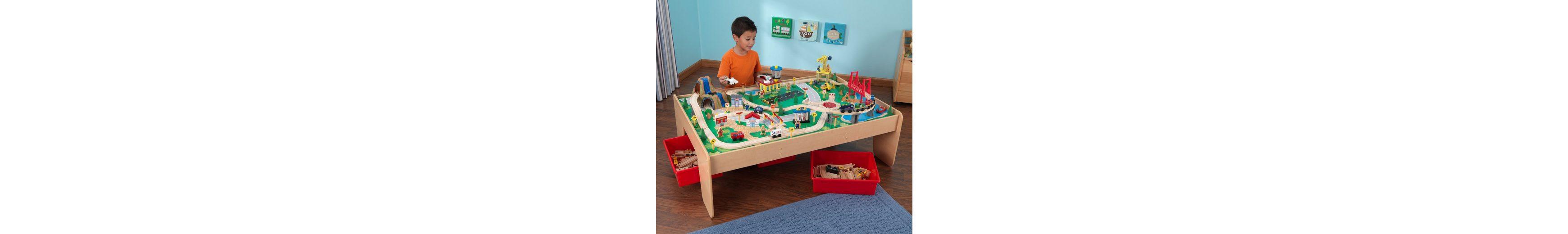 KidKraft® Eisenbahnset, »Eisenbahnset + Spielplatte«
