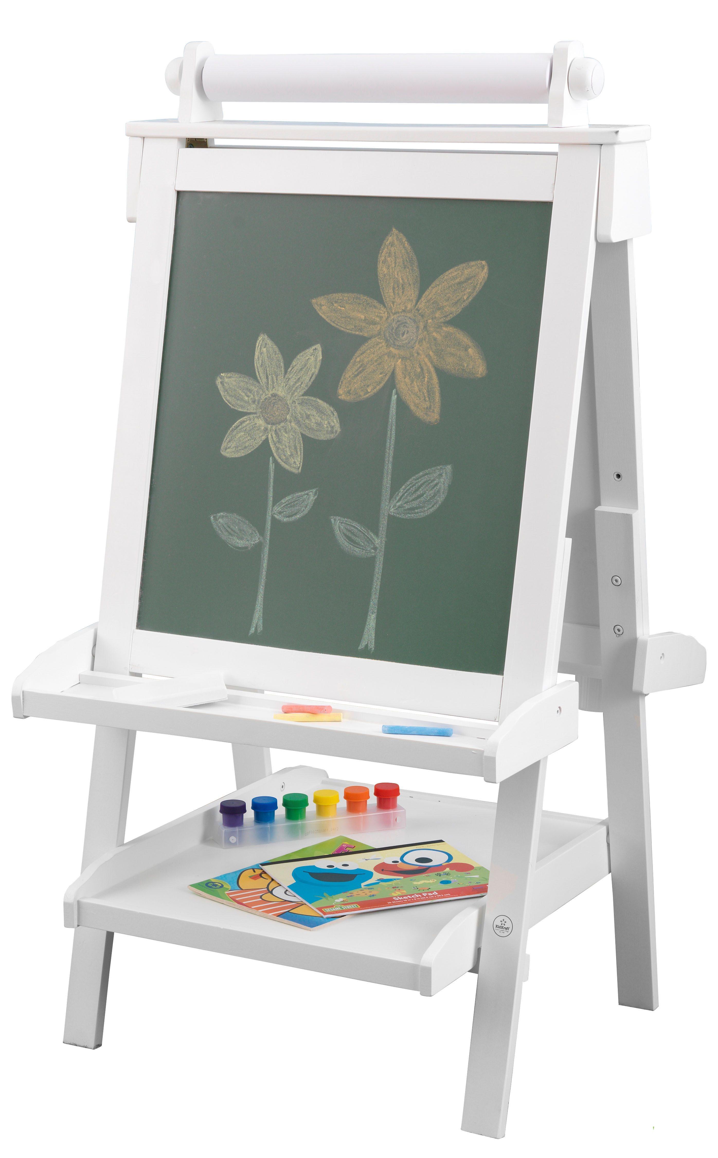KidKraft® Tafel mit Papierrolle, beidseitig beschreibbar, weiß