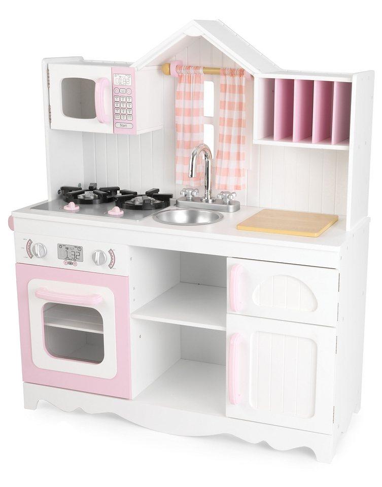 Kidkraft® Spielküche, »Moderne Bauernküche« in rosa/weiß