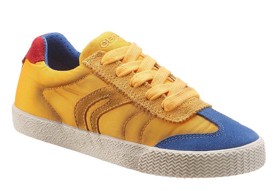 GEOX Kids Sneaker mit herausnehmbarer Sohle in gelb used