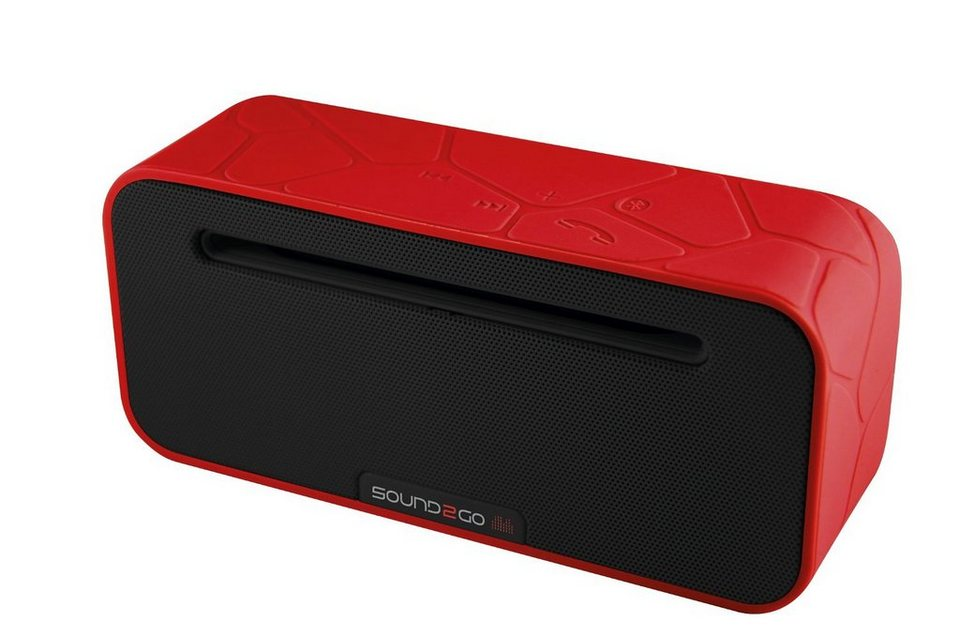 Sound2Go BRIQ STUDIO PLUS - Bluetooth Stereo Lautsprecher in rot-schwarz