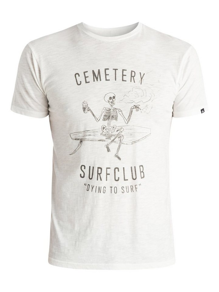 Quiksilver T-Shirt »Slub Cemetery« in snow white