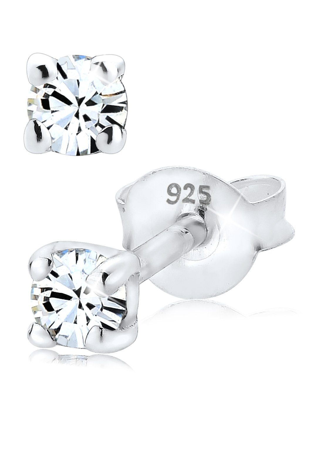 Elli Ohrringe »Swarovski® Kristalle Funkelnd 925 Silber«