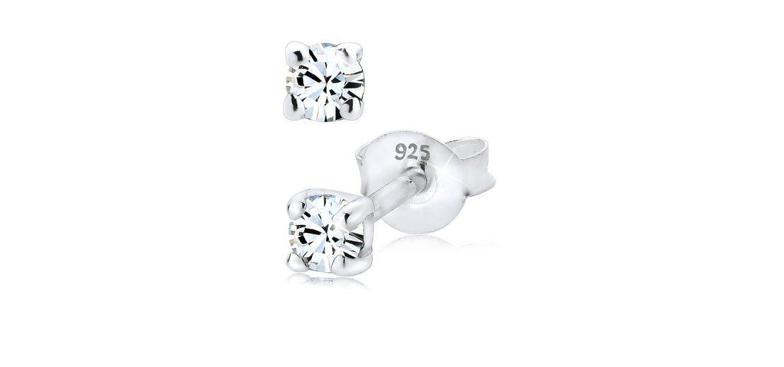 Elli Ohrringe »Swarovski® Kristall Basic Funkelnd 925 Silber«