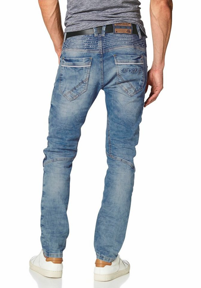 Cipo & Baxx Slim-fit-Jeans in bleached-used
