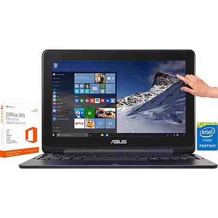 Asus TP200SA Notebook inkl. Office 365 Personal, Intel® Pentium™, 32 GB Speicher, 2048 MB