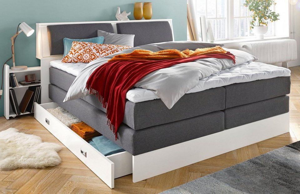 breckle boxspringbett kopfteilkissen 5 fach verstellbar online kaufen otto. Black Bedroom Furniture Sets. Home Design Ideas