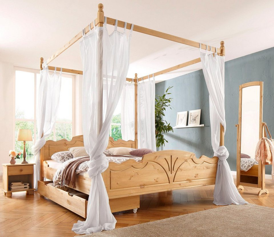 romantisches himmelbett holz. Black Bedroom Furniture Sets. Home Design Ideas