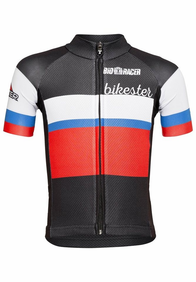 Bikester Trikot »Bioracer Classic Race Jersey Kids« in schwarz