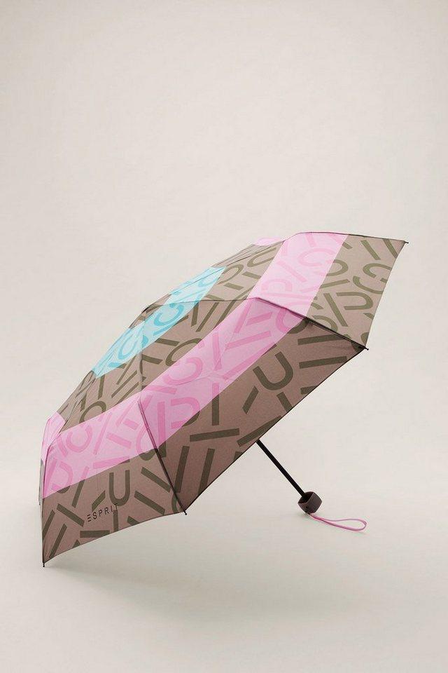ESPRIT CASUAL 2 in 1: Regenschirm mit Tasche in one colour