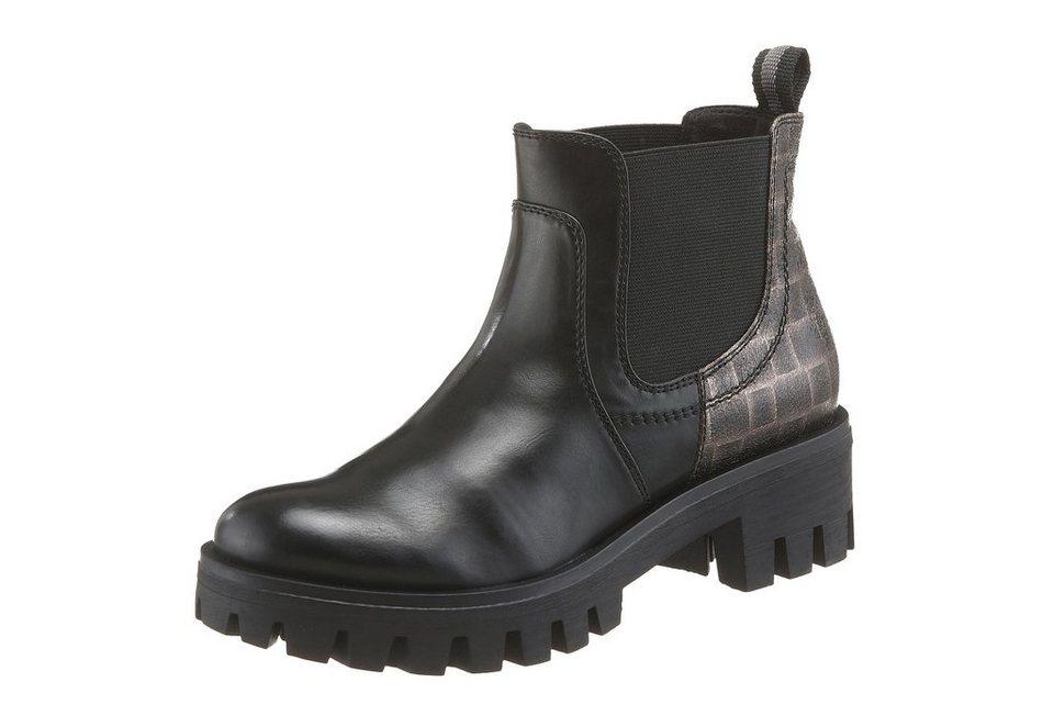 Tamaris Chelseaboots mit Metallic-Print in schwarz