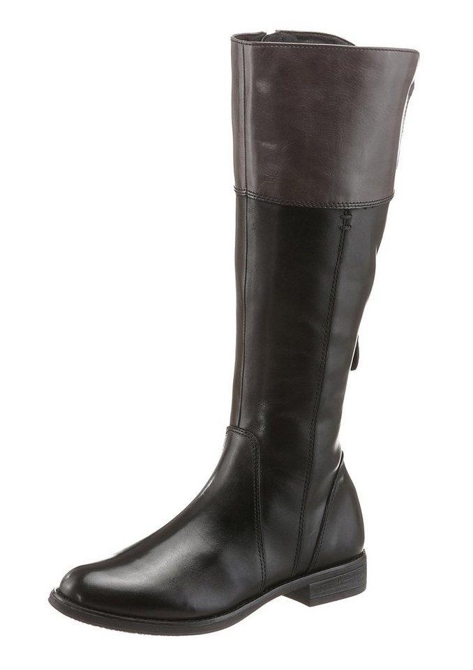 Tamaris Stiefel mit XS-Schaft in schwarz-grau