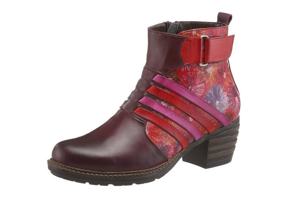 Hush Puppies Stiefelette in weinrot-rot-pink