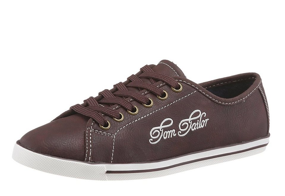 Tom Tailor Sneaker in bordeaux