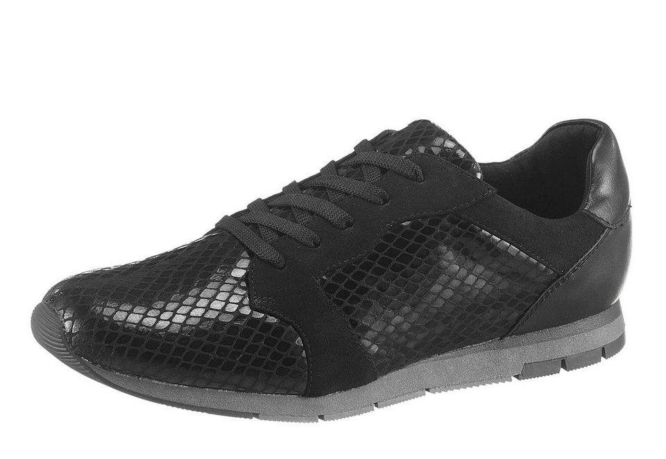 Tamaris Sneaker im schimmernden Look in schwarz