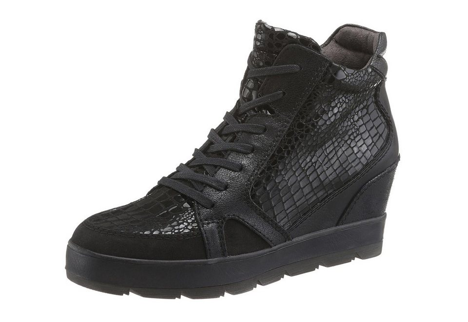 Tamaris Wedgesneaker in schwarz