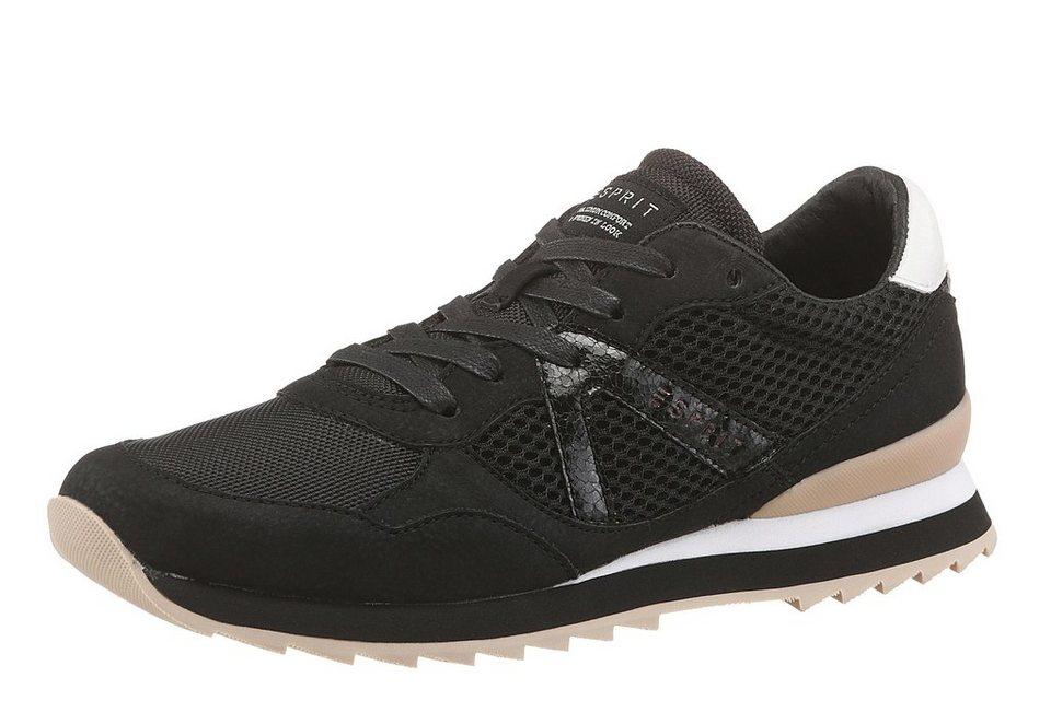 Esprit Sneaker in schwarz