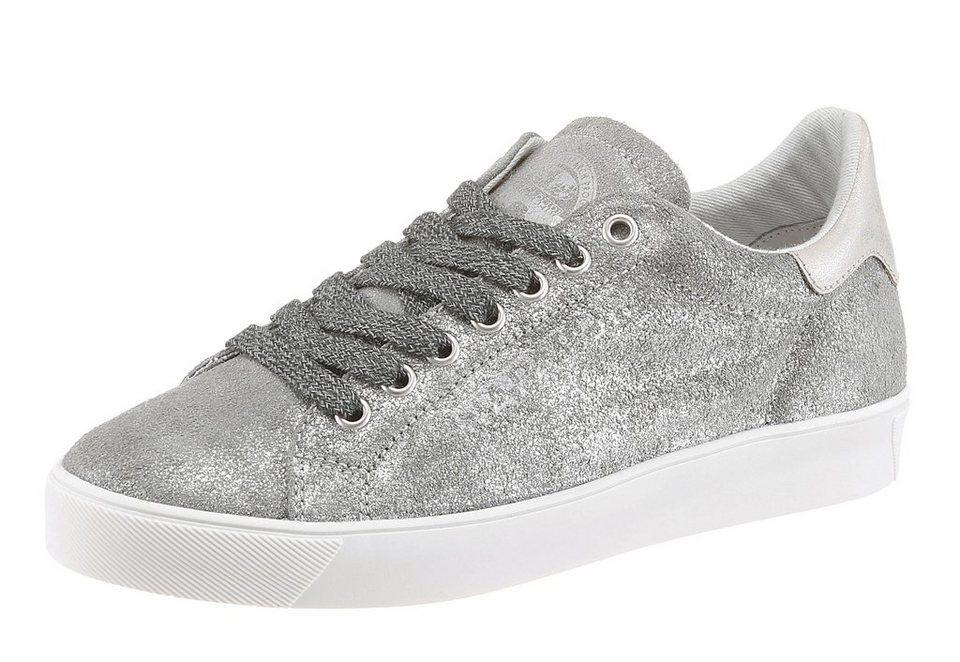 Napapijri Sneaker in schimmernder Optik in silberfarben