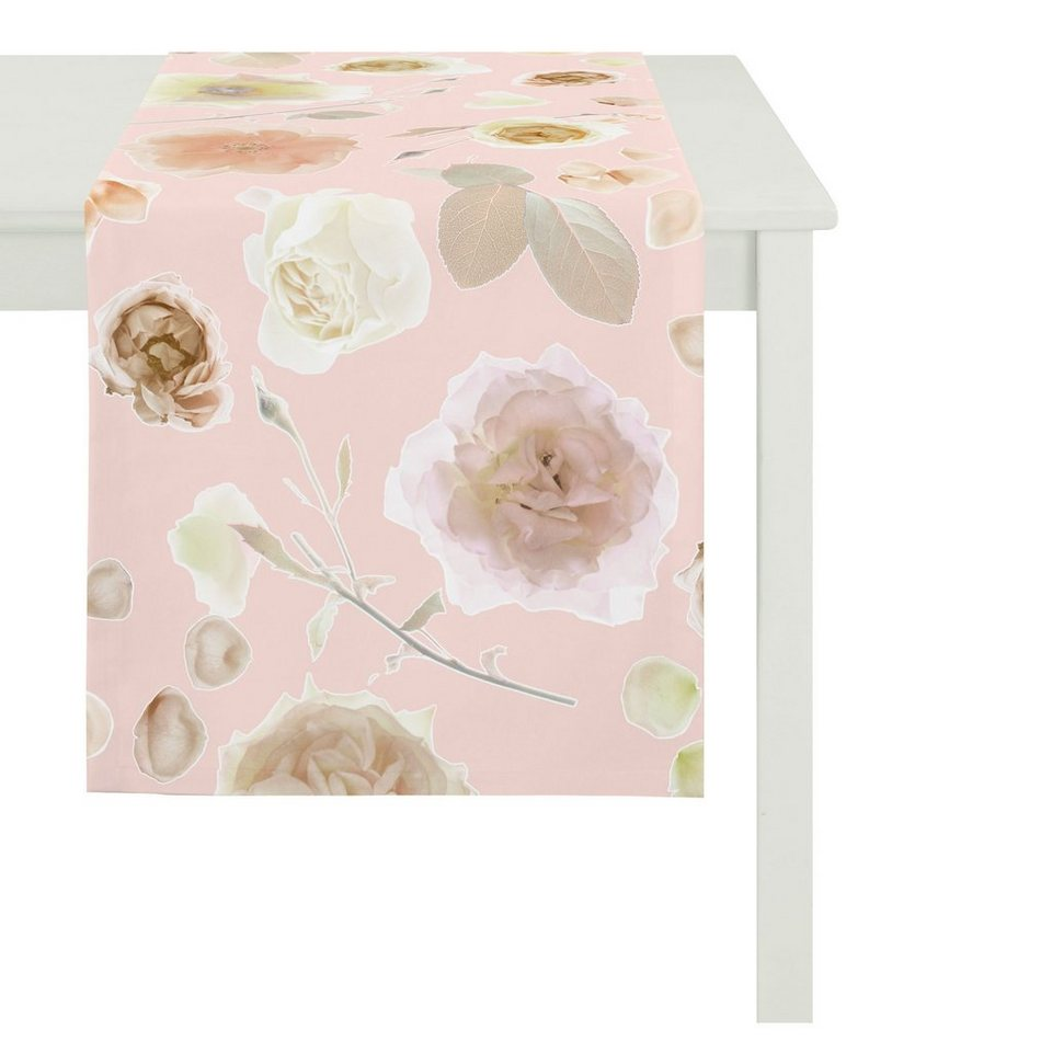 Apelt Tischdecke, »6102 SUMMER GARDEN« in rosa