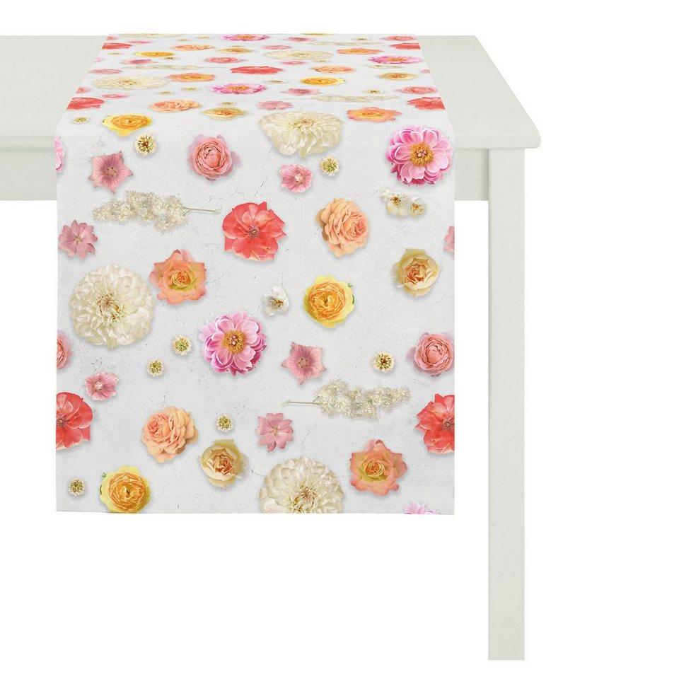 Apelt Tischdecke, »5905 SUMMER GARDEN« in rosa