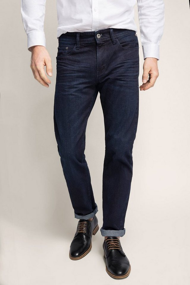 ESPRIT COLLECTION Dunkelblaue Non-stretch-Jeans in BLUE DARK WASHED