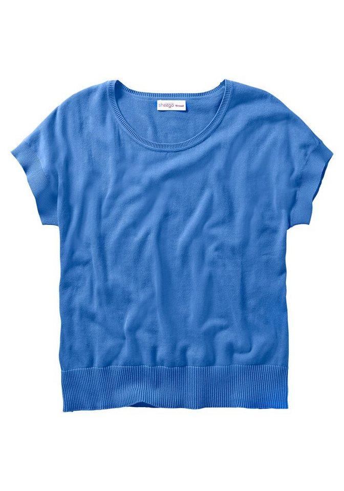 sheego Trend Pullover in ozeanblau