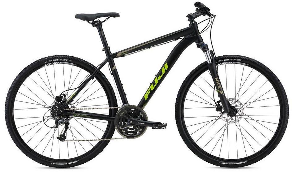 Fuji Herren Crossbike, 28 Zoll, 24 Gang Shimano Kettenschaltung, »Traverse 1.5« in seidenmatt schwarz