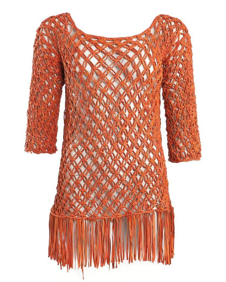 MAZE Ledertop, Damen Casale in orange