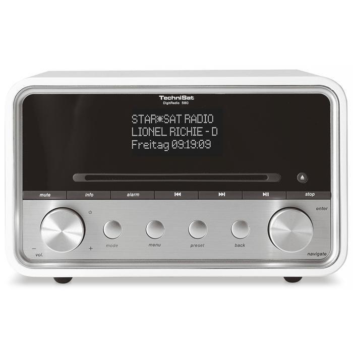 TechniSat DAB+ Hybridradio »DigitRadio 580« in Weiß