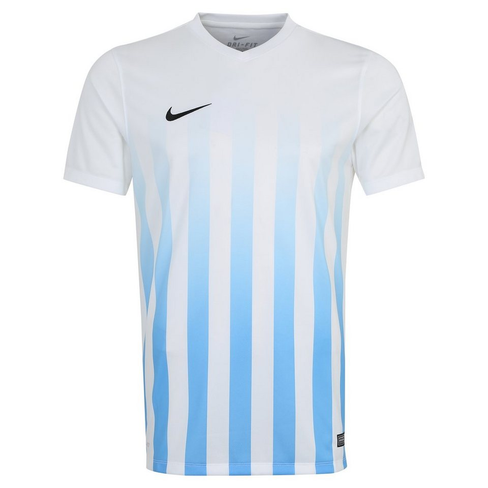 NIKE Striped Division II Fußballtrikot Herren in weiß / schwarz