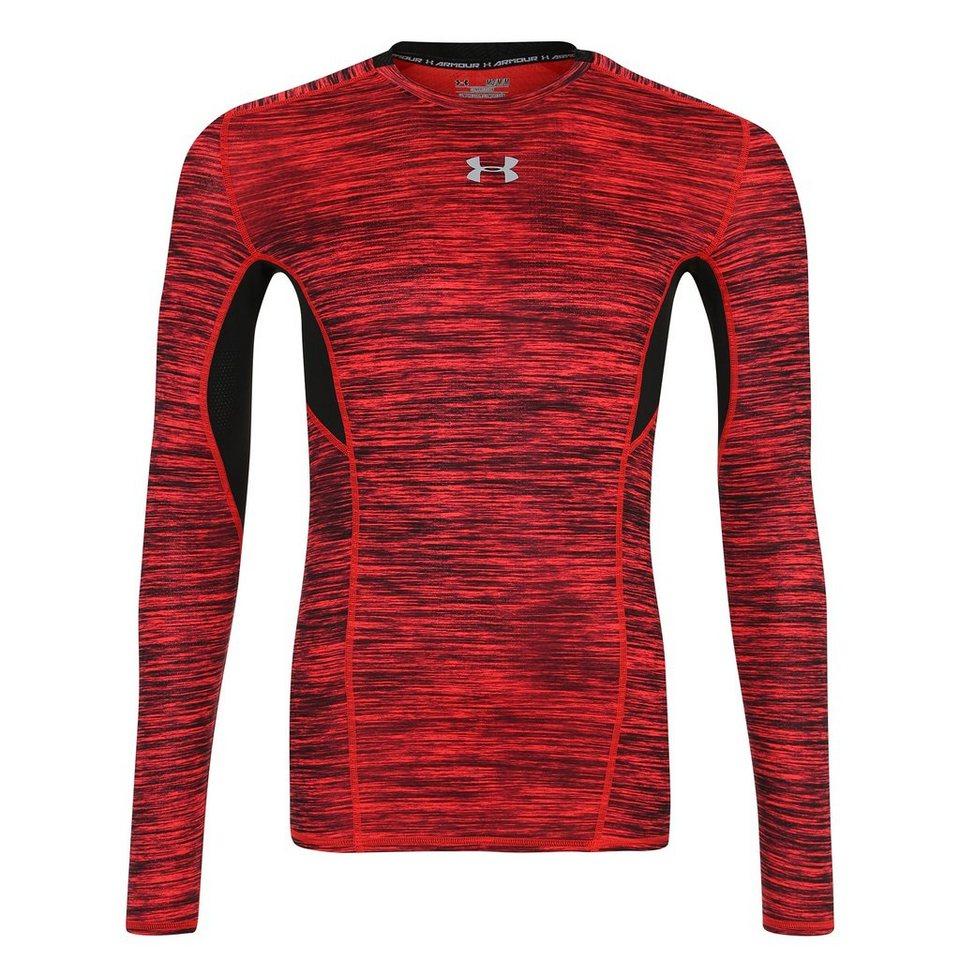 Under Armour® HeatGear CoolSwitch Compression Trainingsshirt Herren in rot / schwarz / grau
