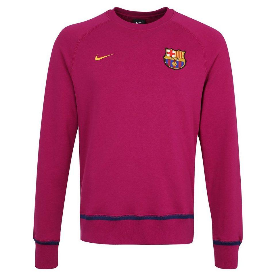 NIKE FC Barcelona AW77 Crew Sweatshirt Herren in violett / gold