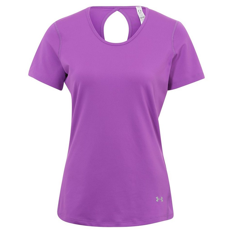 Under Armour® HeatGear CoolSwitch Trainingsshirt Damen in magenta / silber