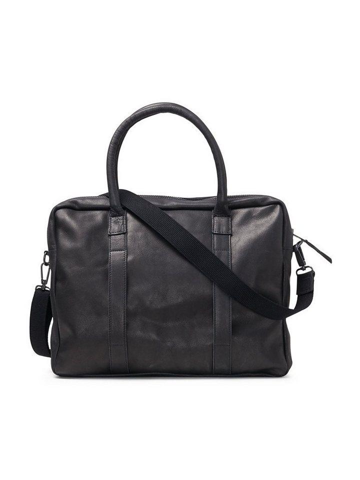 Jack & Jones Leder- Tasche in Black